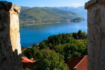 The city walls of Ohrid – Macedonia