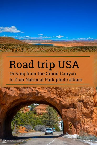 Road trip, driving from the Grand Canyon to Zion – USA