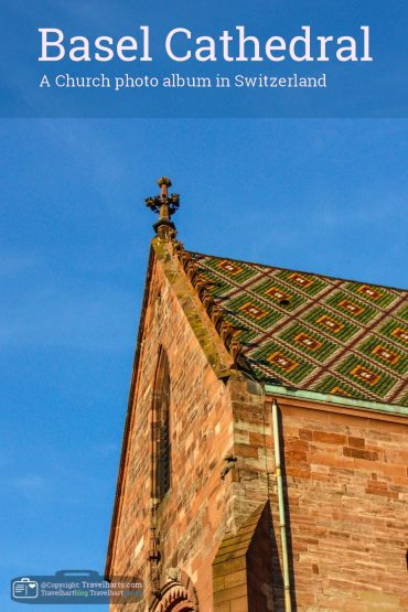 Basel,  the colored roof tiles Cathedral