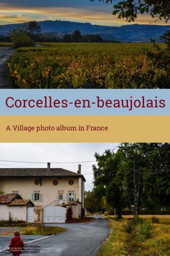 Corcelles-en-Beaujolais, A small village near Lyon – France