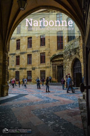 Narbonne, small city near the Mediterranean Sea – France